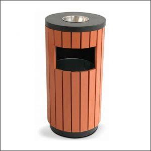 90 Poubelle cendrier en bois