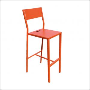 6 Tabouret INDUSTRIEL orange