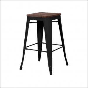7.2 Tabouret TOLX – noir – assise chêne